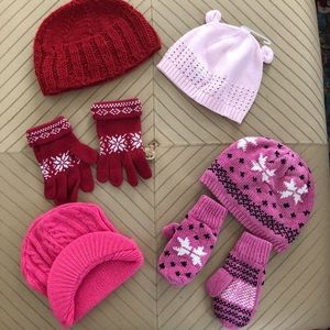Other - Lot of girls winter caps and gloves 3years